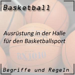 Basketball Halle Ausrüstung