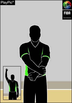 Handzeichen regelwidriger Gebrauch der Hände