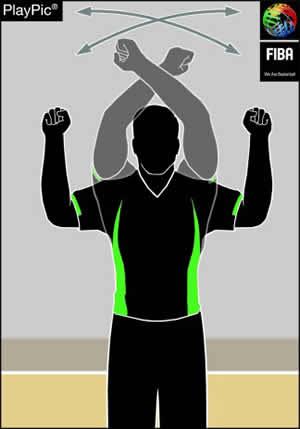 Handzeichen Doppel-Foul