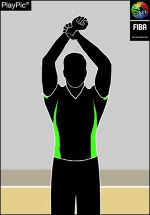 Handzeichen unsportliches Foul
