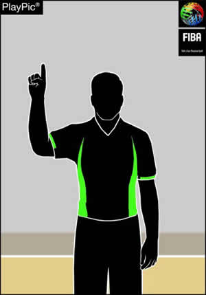 Handzeichen 1 Freiwurf