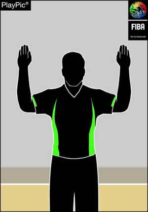 Handzeichen 2 Freiwürfe