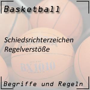 Basketball Schiedsrichterzeichen Regelverstoß
