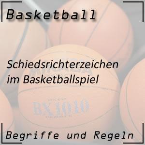 Basketball Schiedsrichterzeichen