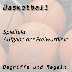 Basketball Spielfeld Freiwurflinie