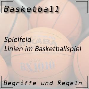 Basketball Spielfeld Linien