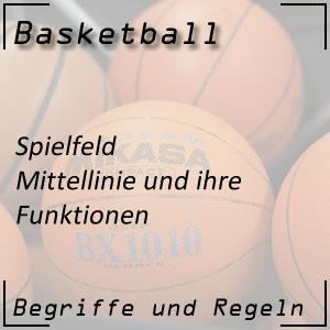 Basketball Spielfeld Mittellinie