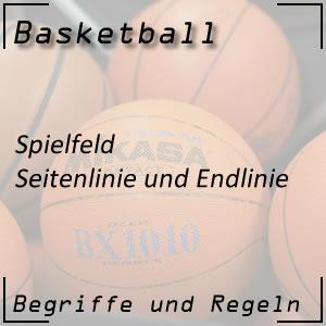 Basketball Spielfeld Seitenlinie Endlinie