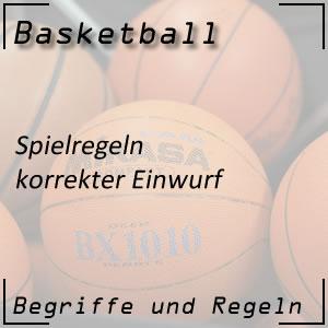 Basketball Einwurf
