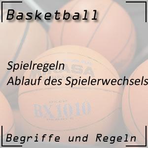 Basketball Spielregeln Spielerwechsel