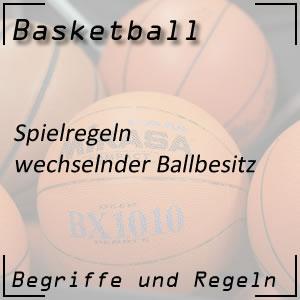 Basketball Spielregeln wechselnder Ballbesitz
