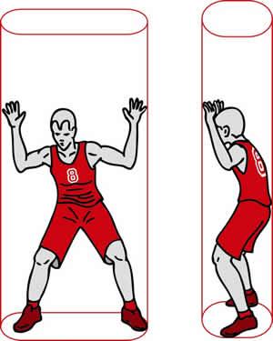 Zylinderprinzip im Basketballspiel