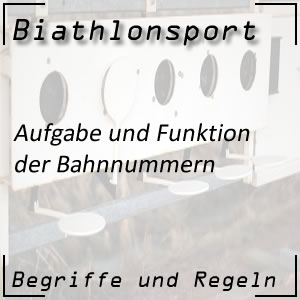 Biathlonsport Bahnnummer