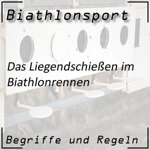Biathlon Liegendschießen