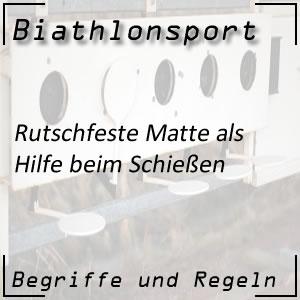 Biathlonsport Rutschfeste Matte