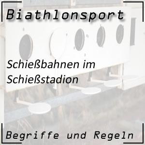 Biathlon Schießbahn