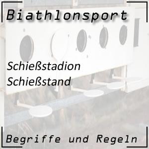 Biathlon Schießstand