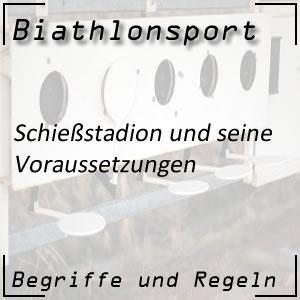 Biathlonsport Schießstadion