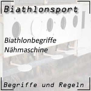 Biathlon Nähmaschine