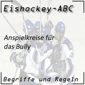 Eishockey Anspielkreise für das Bully