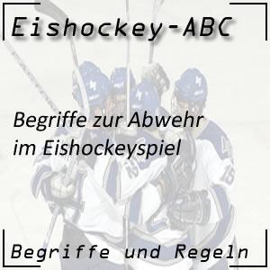 Eishockey Begriffe Abwehr Abwehraktionen