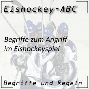 Eishockey Begriffe Angriff
