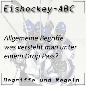 Eishockey Begriffe Drop Pass