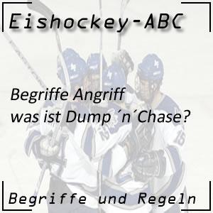 Eishockey Begriffe Dump ´n´ Chase