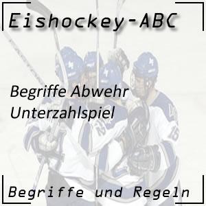 Eishockey Begriffe Unterzahlspiel