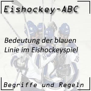 Eishockey blaue Linie am Spielfeld