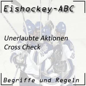 Eishockey Cross Check (2-Minuten-Strafe)