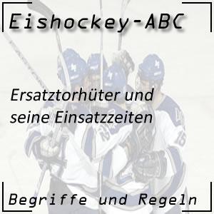 Eishockey Ersatztorhüter