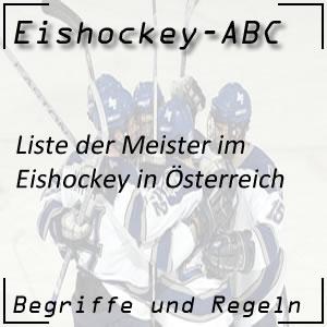Eishockey Meisterliste Österreich