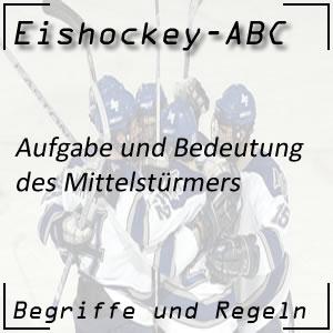 Eishockey Mittelstürmer oder Center