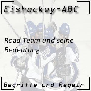 Eishockey Road Team oder Auswärtsmannschaft