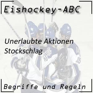 Eishockey Stockschlag