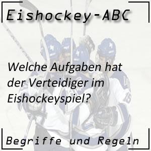 Eishockey Verteidiger Aufgaben