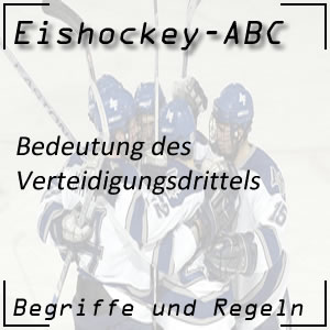 Eishockey Spielfeld Verteidigungsdrittel
