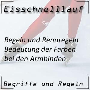 Eisschnelllauf Start und Armbinde