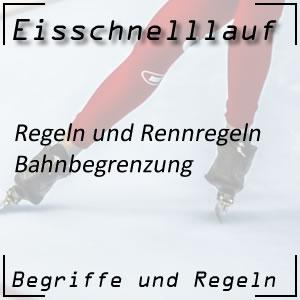 Eisschnelllauf Regeln Bahnbegrenzung