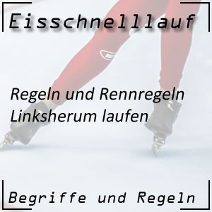 Eisschnelllauf Linksherum-Laufen