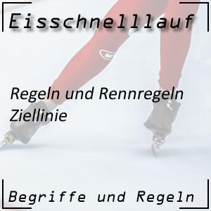 Eisschnelllauf Ziellinie