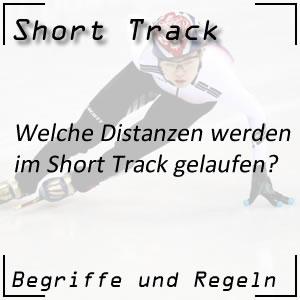 Short Track Rennen Streckenlängen