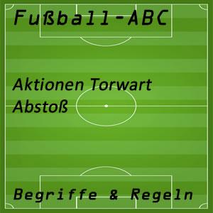 Fußball Aktionen Torhüter Abstoß