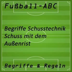 Fußball Außenrist