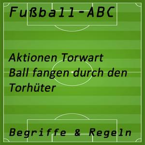 Torhüter Ball fangen