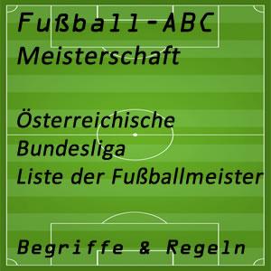 Fußballmeisterschaft Österreich Bundesliga