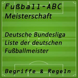 Fußballmeisterschaft Deutsche Bundesliga