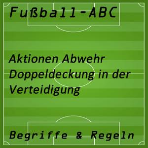Fußball Doppeldeckung