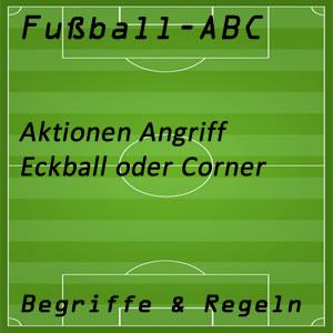 Fußball Aktionen Angriff Eckball